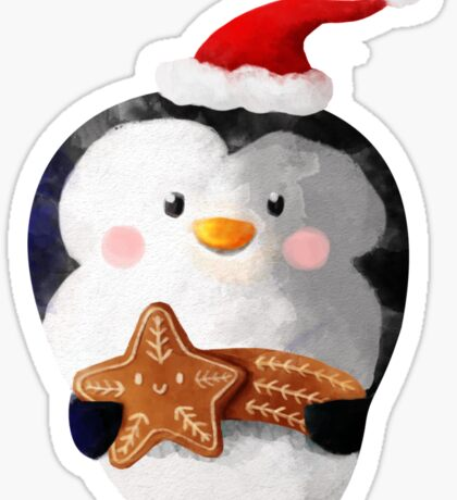 Cute Christmas Penguin Sticker
