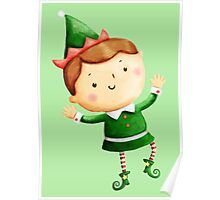 Cute Christmas Elf Poster