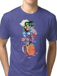 Cheeseburger Backpack! Tri-blend T-Shirt