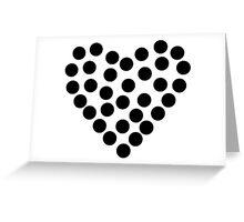 Dots Heart Greeting Card