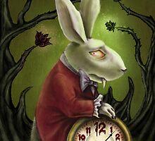 Vampire White Rabbit by DianaLevinArt