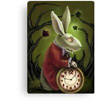 Vampire White Rabbit Canvas Print