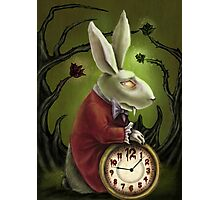 Vampire White Rabbit Photographic Print