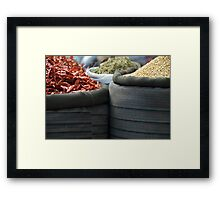 curry spices Framed Print
