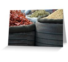 curry spices Greeting Card