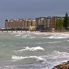 Glenelg Beach, on a stormy day, Adelaide, Australia by Ali Brown