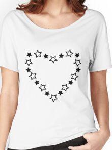 Stars Heart Women's Relaxed Fit T-Shirt
