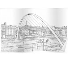 Sketched Tyne Poster