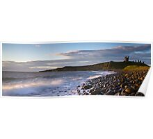 Dunstanburgh Castle Dawn Poster