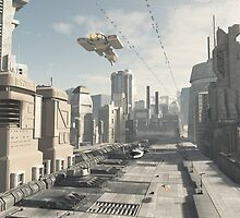 Future City Street by algoldesigns