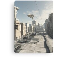 Future City Street Canvas Print
