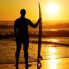 A surfer watching the waves by homydesign