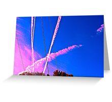 Sky Trails Greeting Card