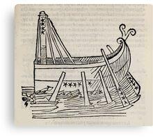 Hic Codex Auienii Continent Epigrama Astronomy Rufius Festivus Avenius 1488 Astronomy Illustrations 0179 Constellations Canvas Print