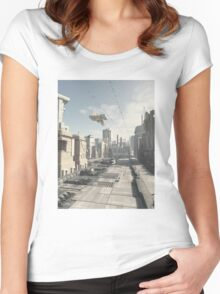 Future City Street Women's Fitted Scoop T-Shirt