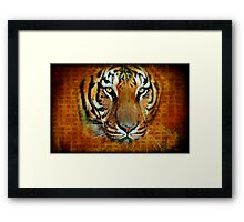 Written in His Eyes Framed Print
