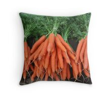 bunches of fresh carrots Throw Pillow
