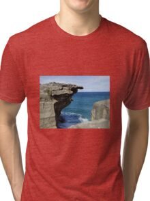 The sea and rocks Tri-blend T-Shirt