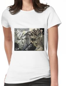 Mag Ama with text (Father And Son) Womens Fitted T-Shirt