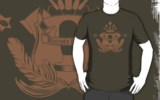 Barista Crest (darkt tees and hoodies) by Barista