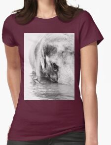Elephant Embraced  Womens Fitted T-Shirt