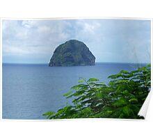 Rocher du Diamant - Martinique, F.W.I. Poster