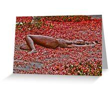 Let me just lie here... Greeting Card