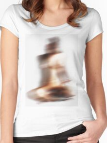 abstract body Women's Fitted Scoop T-Shirt