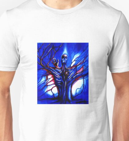 """Consciousness"" Abstract Skeleton Art by VCalderon Unisex T-Shirt"
