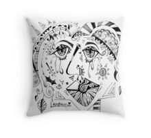 The Crying Queen Throw Pillow