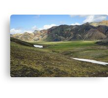 Mountains Iceland Canvas Print