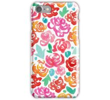 Peony & Roses on White iPhone Case/Skin