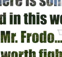 LOTR Sam's Speech Quote Sticker