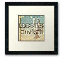 Lobster Dinner Framed Print