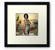 """Let's walk on the beach..."" Framed Print"