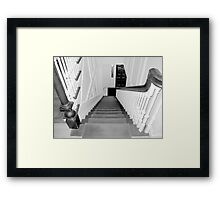 Upstairs-Downstairs Framed Print