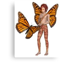 Monarch Butterfly Fairy Boy Canvas Print