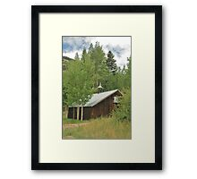 Mountain Hideaway  Framed Print