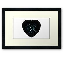 Black Diamond Heart Framed Print