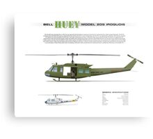 Bell Huey Helicopter (UH-1H transport) Metal Print