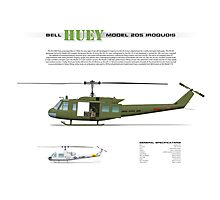 Bell Huey Helicopter (UH-1H transport) Photographic Print