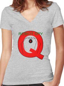 Jonny Quest Robot Spy! 2nd Version Women's Fitted V-Neck T-Shirt