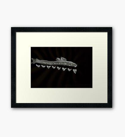 0030 - Brush and Ink - Swim Reception Framed Print
