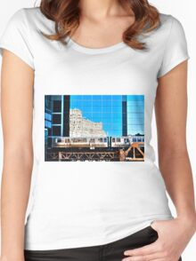 train in the loop Women's Fitted Scoop T-Shirt