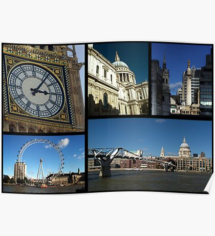 London Scenes Collage Poster