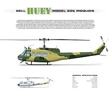 Bell Huey Helicopter (UH-1H transport) Australian Army by JetRanger