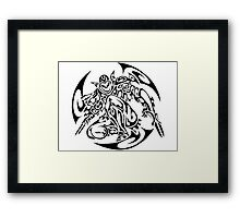 Zed (black) Framed Print