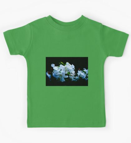 White lilies in Ravenswood, Chicago Kids Tee