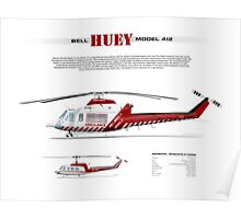 Bell Huey Helicopter (Model 412) Ambulance Victoria Poster