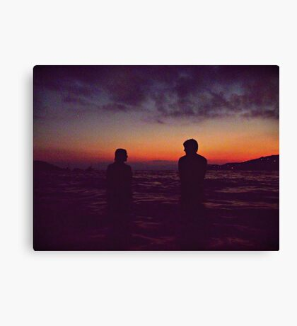 The wild hunt, the anticipated afternoons. Canvas Print